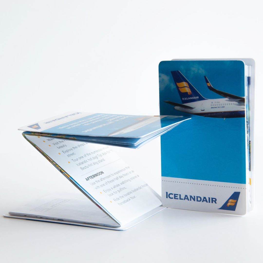 Icelandair z folding pocket map