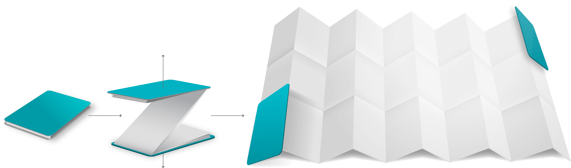 Triple Row Pocket Map